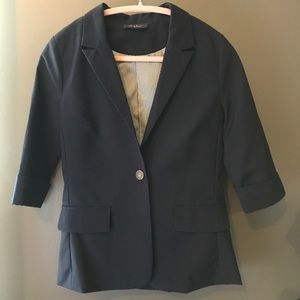 Navy Blazer with 3/4 sleeves